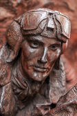 Close-up of part of Battle of Britain War Memorial — Foto Stock