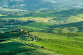 Countryside of Val d'Orcia near Pienza in Tuscany — Stock Photo
