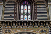 Interior view of  Sienna Cathedral — Stock Photo