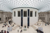 Interior view of the Great Court at the British Museum — Stock Photo
