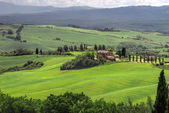 Farmland below Pienza in Tuscany — Stock Photo