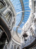 Morgan arcade glass roof in Cardiff — Stock Photo