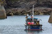 Fishing boat in Port Isaac Cornwall — Stock Photo