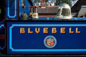 Partial view Bluebell steam engine at Sheffield Park station  — Stock Photo