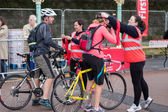 London to Brigton cycle ride to raise money for the British Hear — Stock Photo