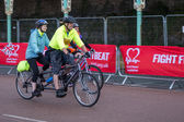 London to Brigton cycle ride to raise money for the British Hear — Stok fotoğraf