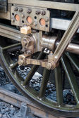 Wheel of U class locomotive at Sheffield Park station — Stock Photo