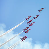 Airbourne Airshow at Eastbourne 2014 — Stock Photo