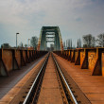 Rusty bridge — Stock Photo