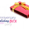 Red Gift Box on white background — Stock Photo #37493275