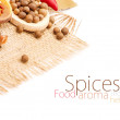Spices, isolated on white — Stock Photo