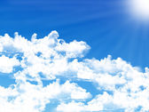 Blue sky background with tiny clouds — Stock Photo