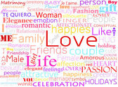 Seamless pattern with word love — Stock fotografie