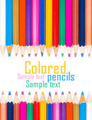 Set of color pencils for creativity on a white background — Stock Photo