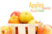 Fresh and colorful apples — Stock fotografie