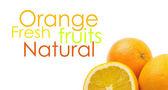 Dos y medio naranjas — Foto de Stock