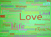 Seamless pattern with word love — Stock Photo