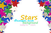 Colored stars background for your text on photo, and other. — ストック写真