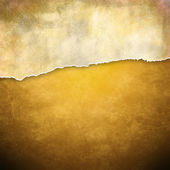 Riped vintage paper on grunge background — Stock Photo