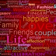 Seamless pattern with word love — Stockfoto
