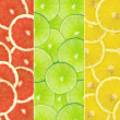 Abstract background of citrus slices — Stock Photo #37505175