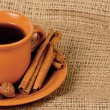 Closeup shot of freshly prepared cup of italian espresso — Stock Photo
