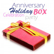 Stock Photo: Red Gift Box on white background