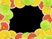 Abstract background of citrus slices — Stock Photo