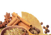 Spices border — Stock Photo