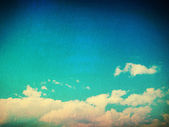 Retro image of cloudy sky — Stock Photo
