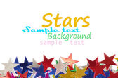 Colored stars background for your text on photo, and other. — Stock fotografie
