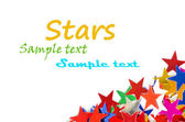 Colored stars background for your text on photo, and other. — Стоковое фото