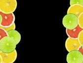абстрактный фон цитрусовых ломтиков. — Стоковое фото