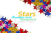 Colored stars background — Stock Photo