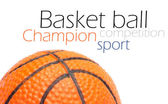 Orange basket ball, photo on the white background — Stock Photo