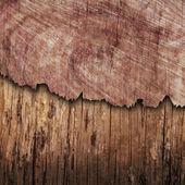 Pęknięta deska drewno — Zdjęcie stockowe