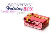 Red Gift Box on white background — Stock Photo