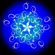 Highly detailed blue snowflake — Stock Photo #37516613