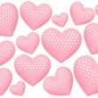 Decorative hearts on white background — Stock Photo