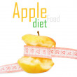 Stock Photo: Apple with measurement
