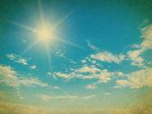 Blauer himmel mit wolken nahaufnahme — Stockfoto