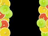 Abstracte achtergrond van citrus segmenten — Stockfoto