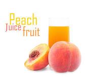 Pfirsich fruchtsaft im glas — Stockfoto