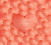 Background made of red heart stickers — Stock Photo
