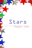 Colored stars background — 图库照片