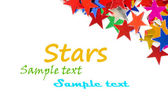 Colored stars background for your text on photo, and other. — Stockfoto