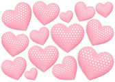 Decorative hearts on white background — Photo