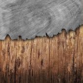 Cracked wood board — Stock Photo
