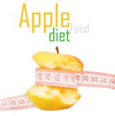 Apple with measurement — Stock Photo