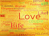 Padrão sem emenda com a palavra amor — Foto Stock